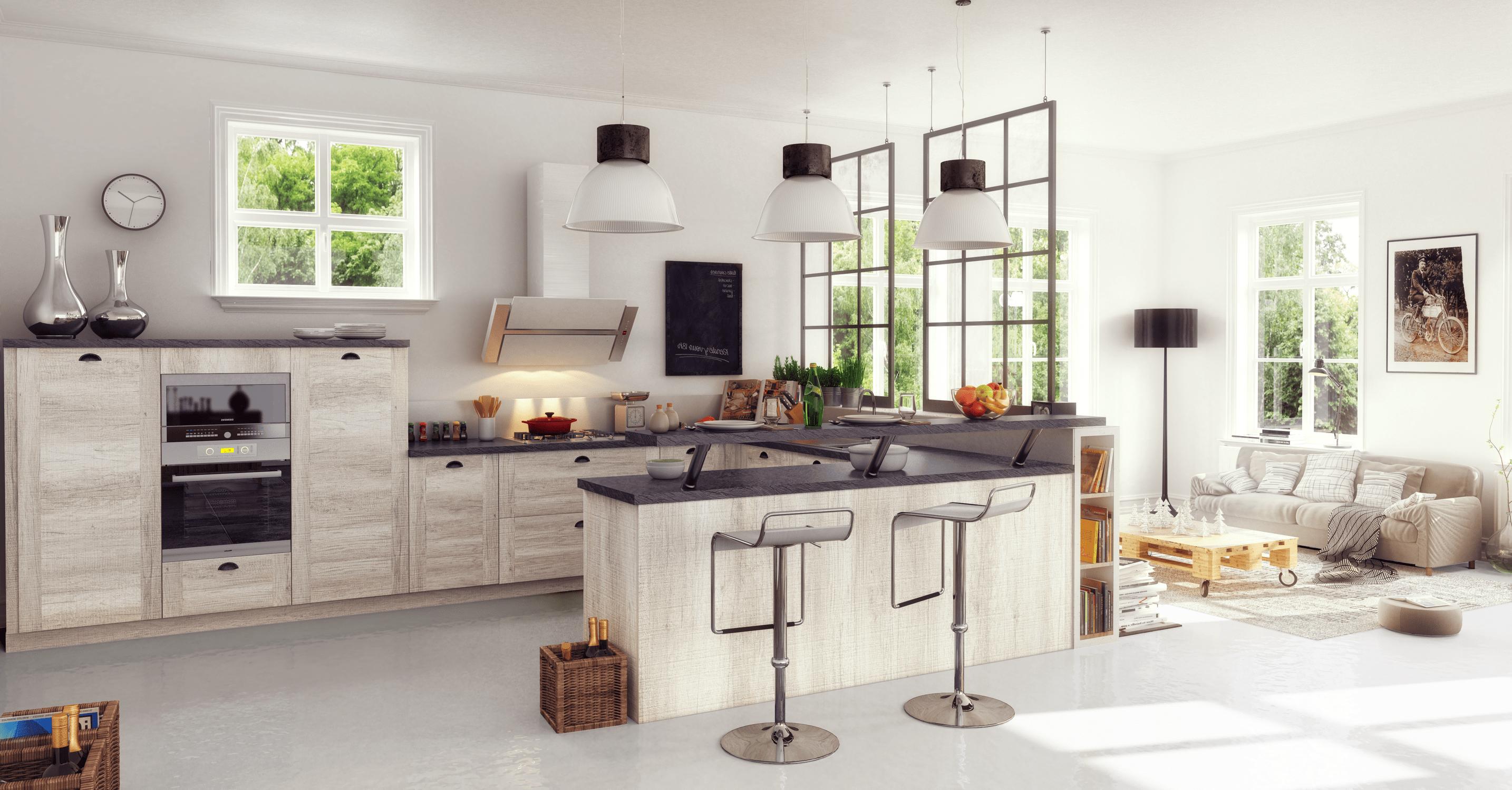 Cuisine Moderne Avec Ilot Fm15: Une Gamme Complète De Cuisines équipées Aux Portes De